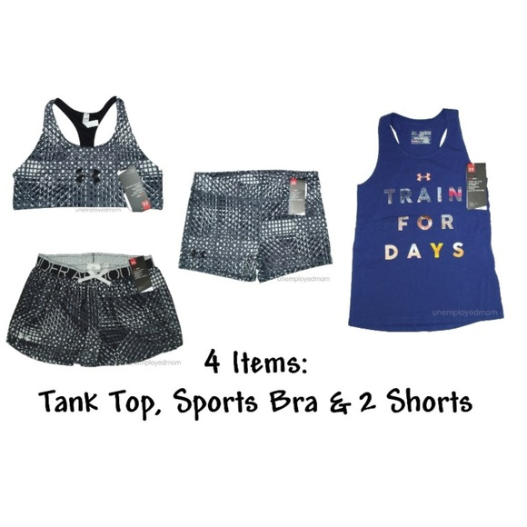 Girls Kids Youth baby Under Armour Short Set NEW Shirt Outfit Size 18 Months